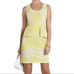 BCBGMaxAzria(4) Etna Lace Lemongrass Peplum Dress